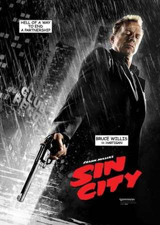 Film Poster: In the Movie Sin City directed by Robert Rodriguez and created