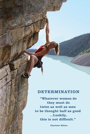 Women must do twice as well as Men - Determination