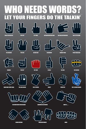 modern sign language slang