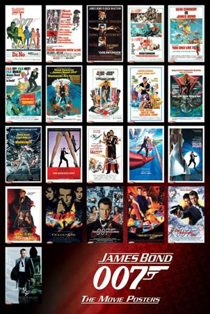 James Bond 007 &#8211; The Movie Posters - James Bond 007