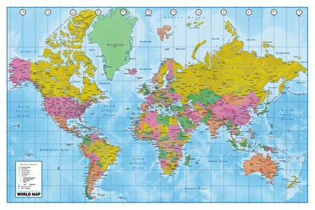 world map political map. Political and Terrain Map