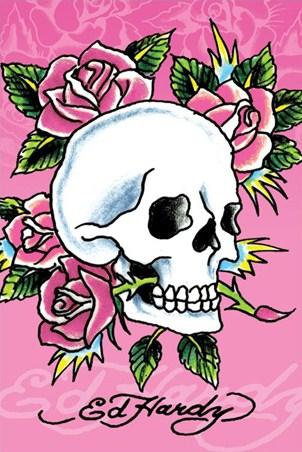 Skull and Roses - Ed Hardy