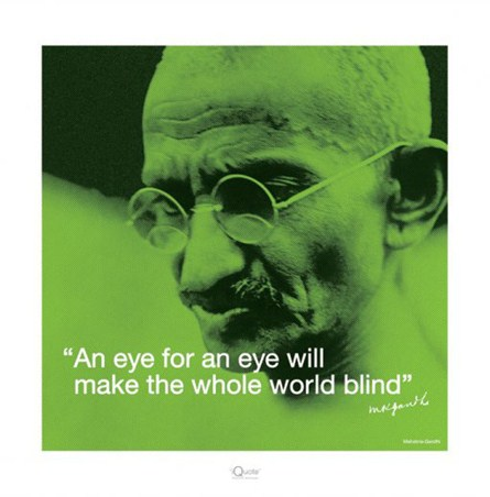 Blind World - Mahatma Gandhi