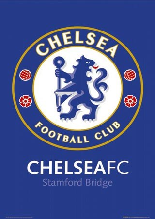 Chelsea FC Club Football Badge, Chelsea Football Club Poster: 91.5 ...