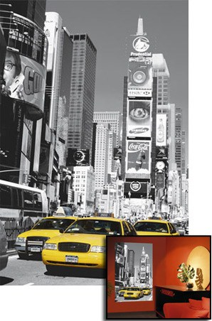 new york times square canvas. Times Square - 1 Sheet New