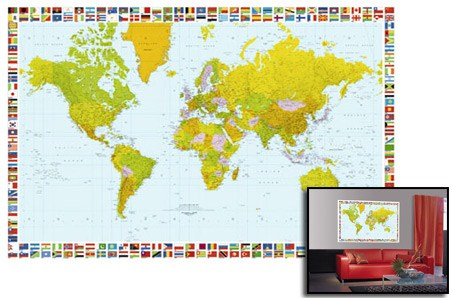 2190. Map of the World (Карта мира) Фотообои.