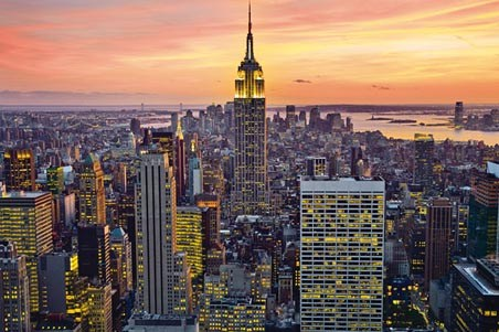 Empire State Building - New York Cityscape by Henri Silberman