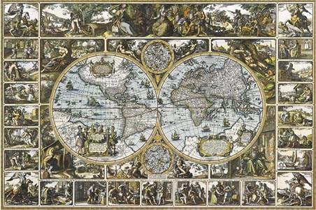 Map Vintage - World map poster vintage style