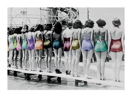Coney Island Line-Up - Vintage Photography