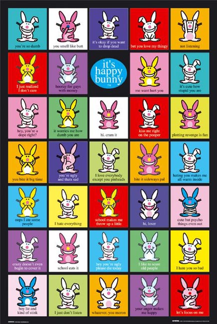 happy bunny quotes and sayings. happy bunny quotes. happy; happy bunny quotes and pictures. Evil Happy Bunny