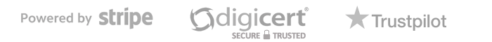 Powered by Stripe. Secured by DigiCert. Trustpilot Reviews