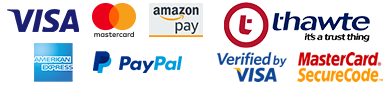 Visa, Visa Electron, Mastercard, Maestro or PayPal. We use Verified by Visa, Mastercard Securecode and SSL Security