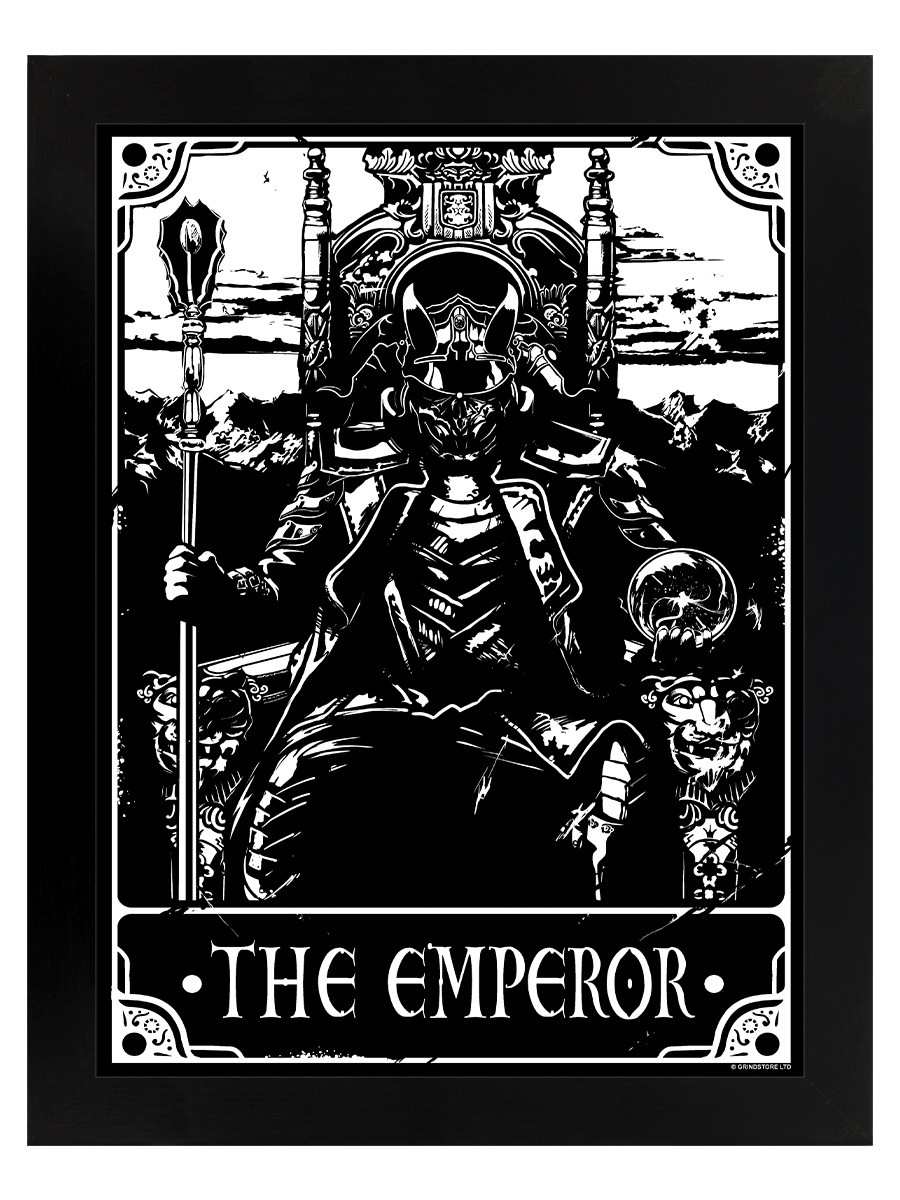 Deadly Tarot Poster The Emperor Black Wooden Framed Print 35x45cm