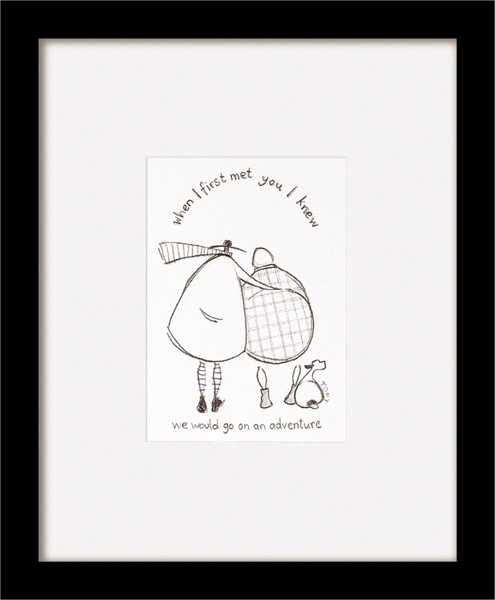 2019 DernièRe Conception Sam Toft Print (when I First Met You) Black Wooden Framed 35x35cm