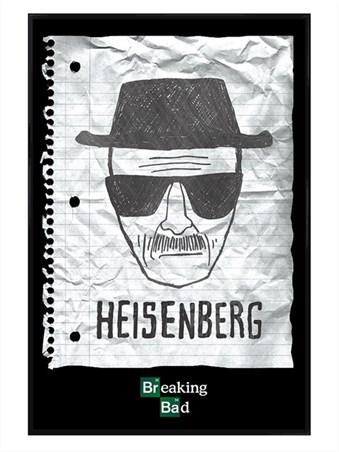 Gloss Black Framed Heisenberg Wanted Poster, Breaking Bad Framed ...