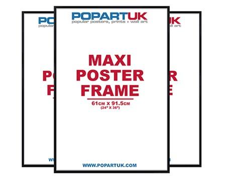 61x91.5cm Gloss Black Poster Frames, Multipack of 3 Poster Frame ...