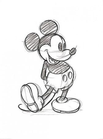 mickey mouse sketch walt disney print buy online