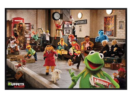 Gloss Black Framed Most Wanted Cast, The Muppets Framed