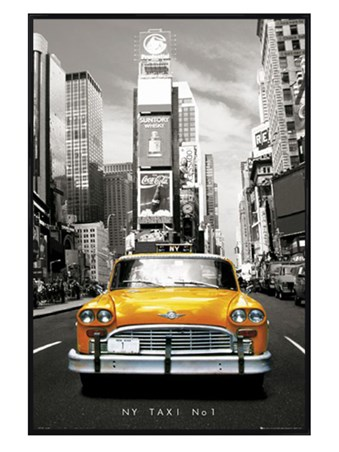 New New York Taxi Number 1 New York USA Poster