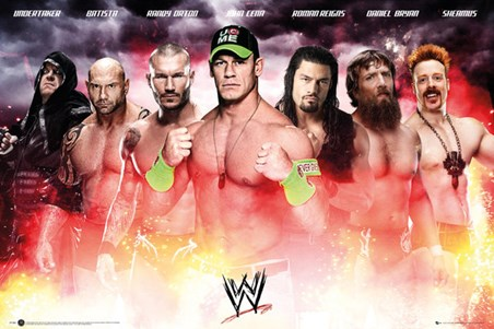 WWE Collage 2014 WWE Poster PopArtUK