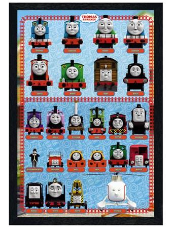 Black Wooden Framed Thomas & Friends, Cast Collection Framed