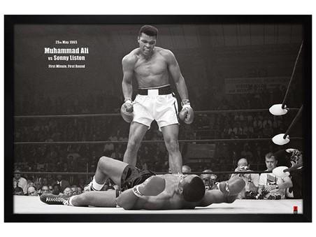 Black Wooden Framed Muhammad Ali vs. Sonny Liston, Muhammad Ali ...