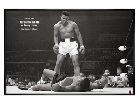 Gloss Black Framed Muhammad Ali vs Sonny Liston, Muhammad Ali Poster ...