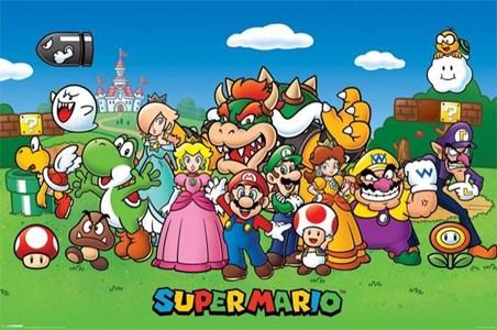 Super Mario Collage Mushroom Kingdom Poster Buy Online