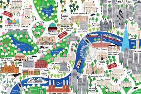 Map Of Landmarks In London.An Alternative Map Of London