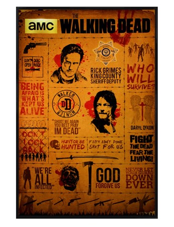 Official The Walking Dead Rick Daryl Road Maxi Poster TV Zombies 91.5 x 61 cm