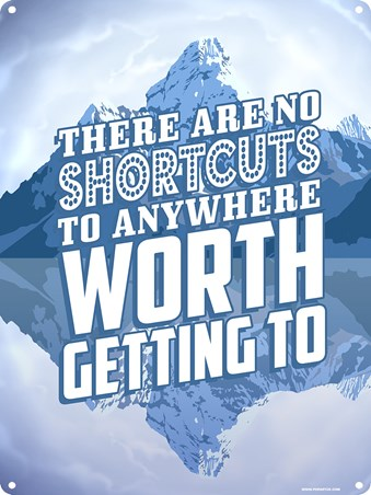 Road To Success There Are No Shortcuts Tin Sign Popartuk