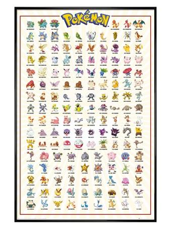 Maxi Poster Pokemon Kanto 151