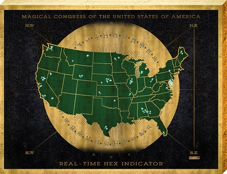 Hex Indicator Map, Fantastic Beasts Large Canvas - Buy Online