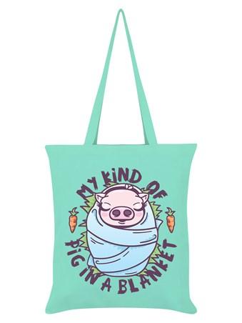 My Kind Of Pig In A Blanket Tote Bag Vegan Christmas Tote Bag  Vegan Christmas Shopping Bag