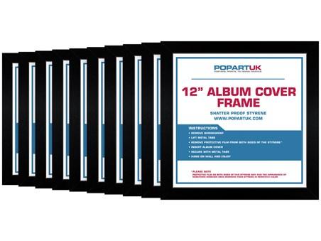 12 Vinyl Record Cover Album Black Multipack Of 10 Poster Frame