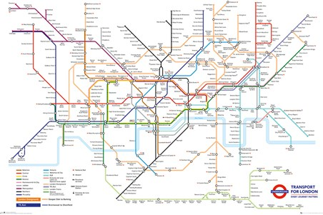 Transport For London Map.Underground Map