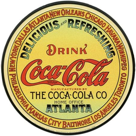 Beroemd Vintage Keg Label, Coca Cola Tin Sign - Buy Online #DP17