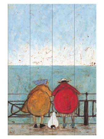 Sam Toft en bois Wall Art Doris earwigging 40x59cm