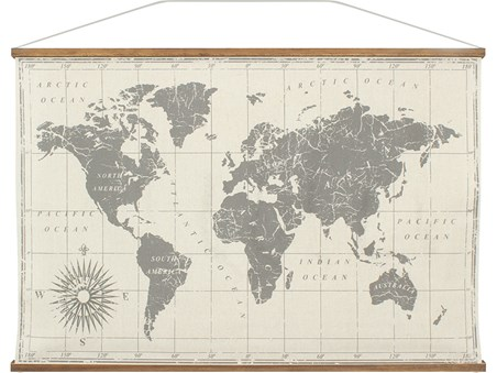 Large Canvas Map Of The World.Large World Map North To South East To West Large Canvas Buy Online