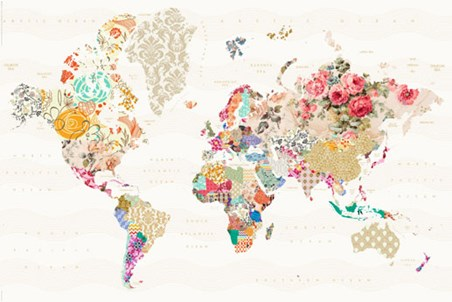 A world of patterns alternative world map poster popartuk a world of patterns alternative world map poster 915cm x 61cm 36 x 24 gumiabroncs Image collections