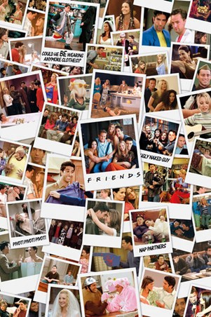 Photo Collage Friends Poster