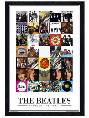 Black Wooden Framed Through the Years, The Beatles Album