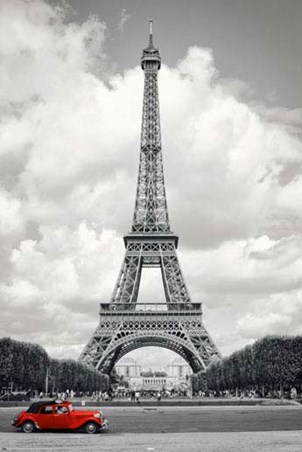 Historic eiffel tower paris iconography poster 61cm x 91 5cm 24 x 36