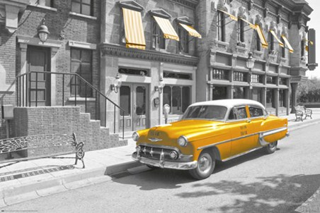 Yellow cab in manhattan