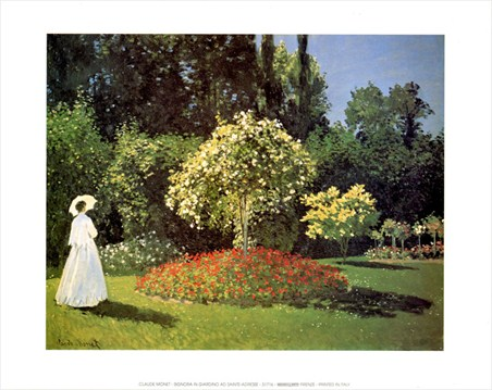 Woman In The Garden At Sainte Adresse