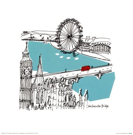London I Susie Brooks Print