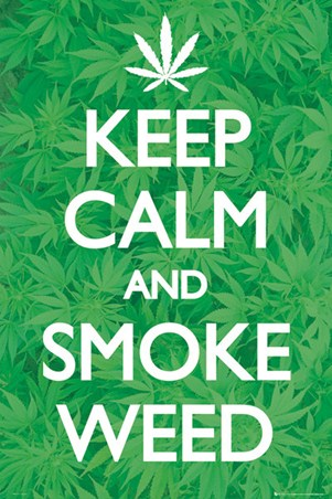 Keep Calm And Smoke Weed Bottle Opener Keyring