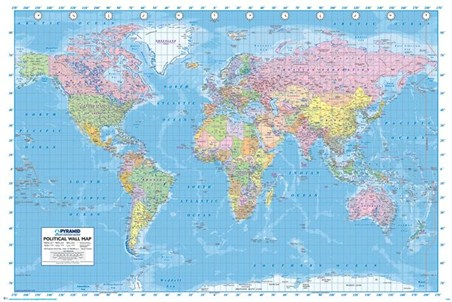 Political World Map Map Of The World Poster Buy Online - Where to buy a world map