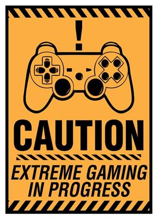 Keep Out Gamer At Work Poster  Satin Matt Laminated New