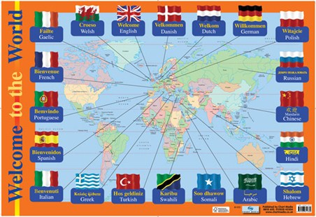 Welcome to the world educational childrens map poster buy online welcome to the world educational childrens map gumiabroncs Images